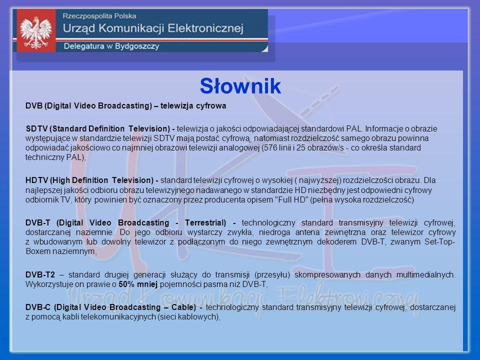 Słownik DVB (Digital Video Broadcasting) – telewizja cyfrowa