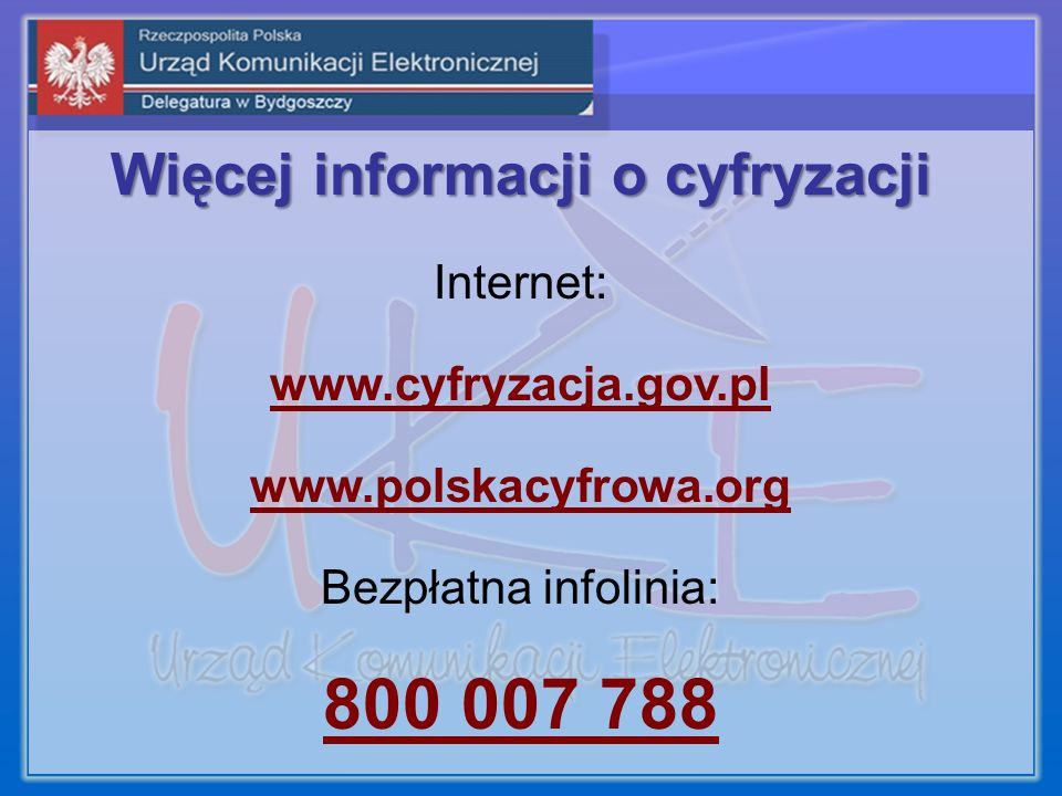 Więcej informacji o cyfryzacji