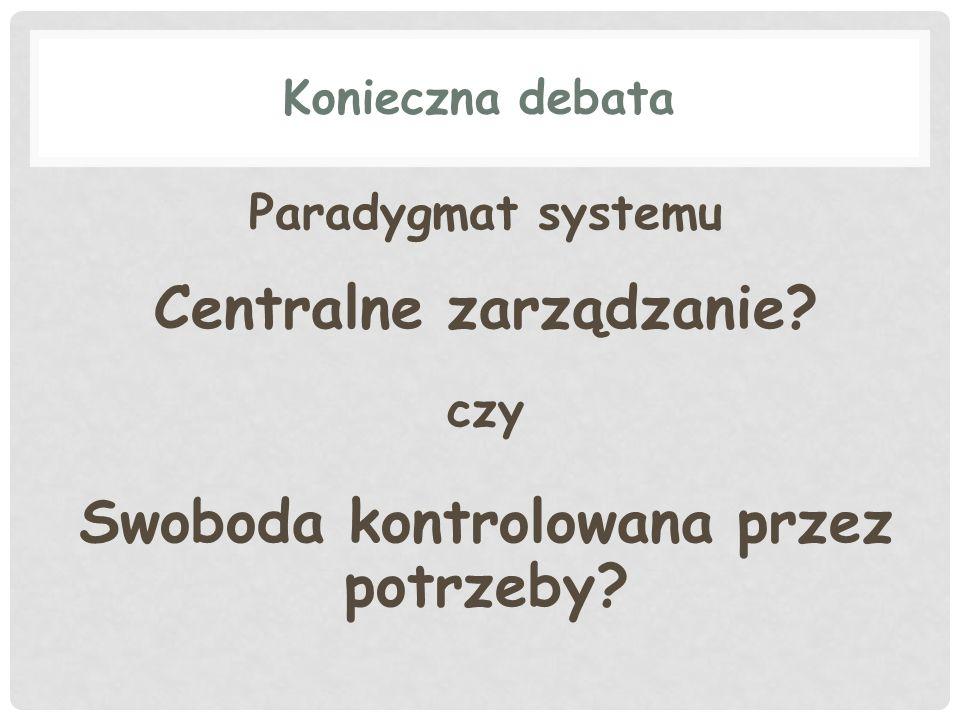 Centralne zarządzanie Swoboda kontrolowana przez potrzeby