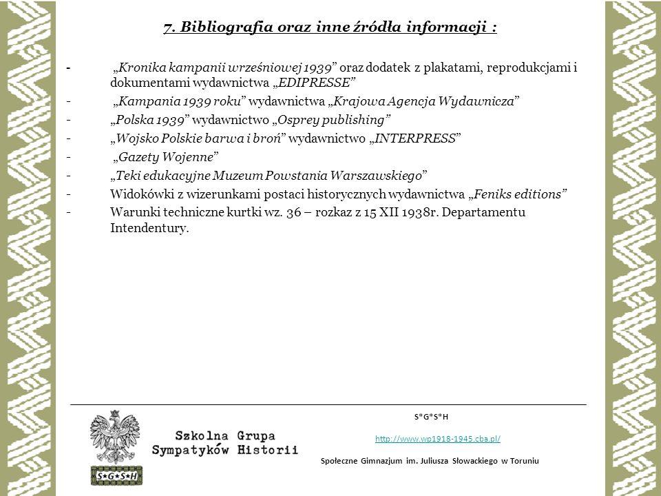 7. Bibliografia oraz inne źródła informacji :