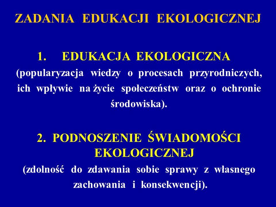 ZADANIA EDUKACJI EKOLOGICZNEJ