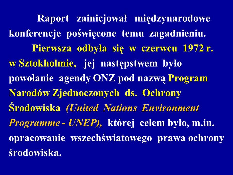 Raport zainicjował międzynarodowe