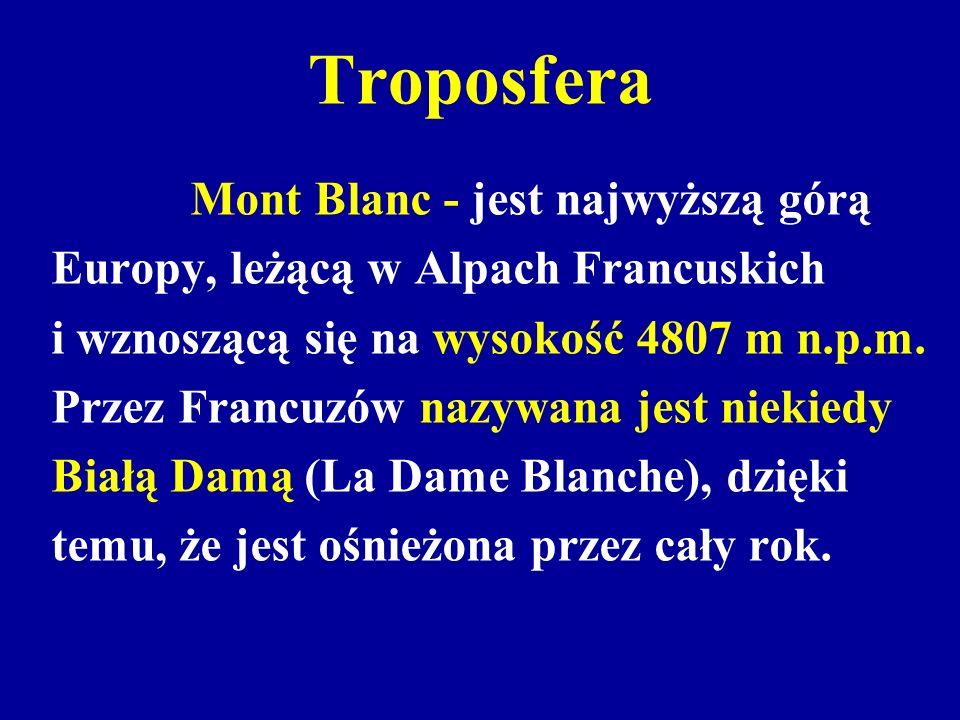 Troposfera Europy, leżącą w Alpach Francuskich