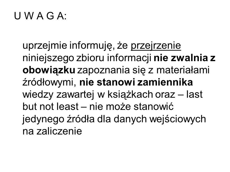 U W A G A: