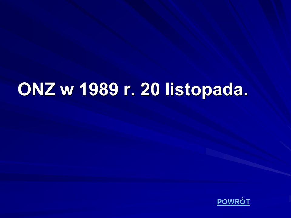 ONZ w 1989 r. 20 listopada. POWRÓT