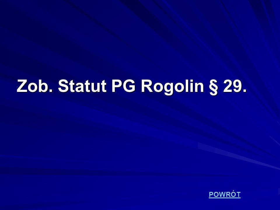 Zob. Statut PG Rogolin § 29. POWRÓT