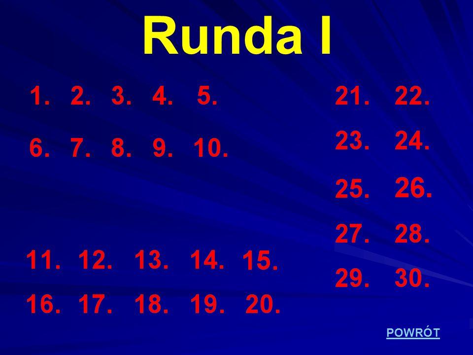 Runda I POWRÓT