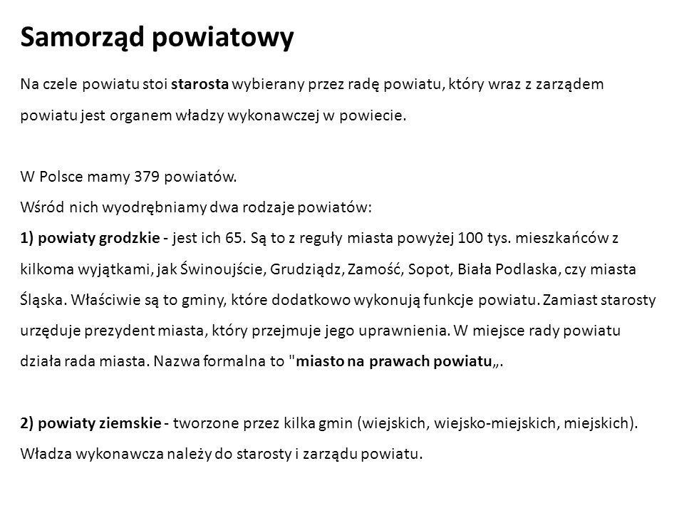 Samorząd powiatowy