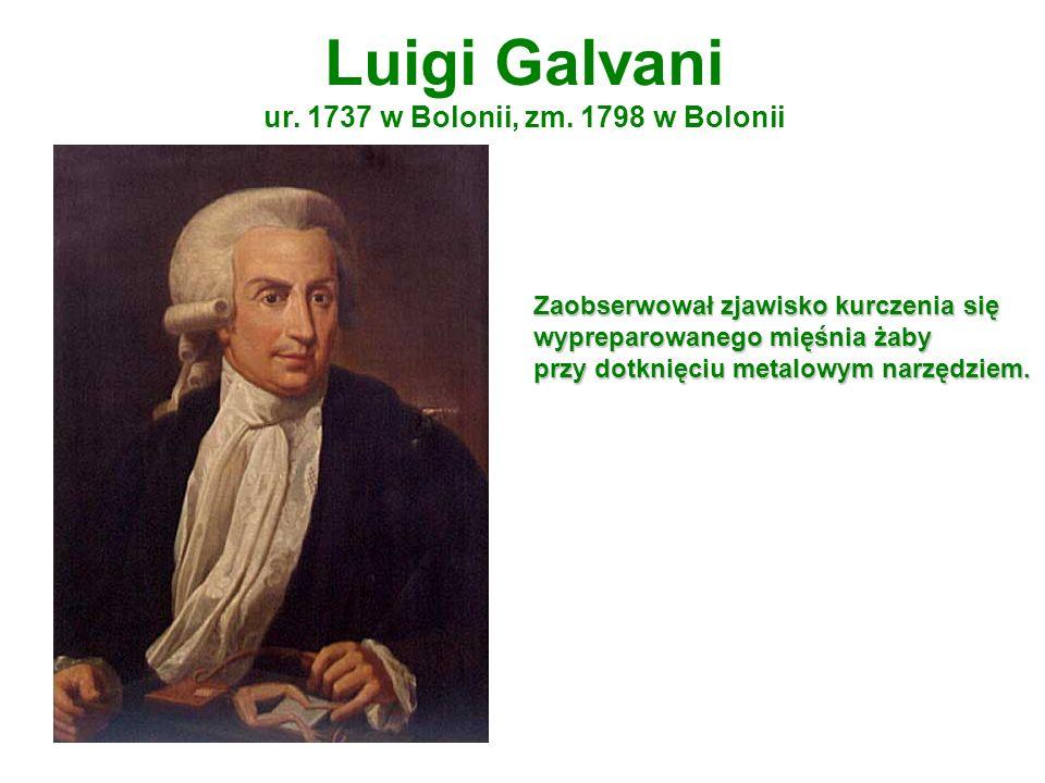 Luigi Galvani ur. 1737 w Bolonii, zm. 1798 w Bolonii