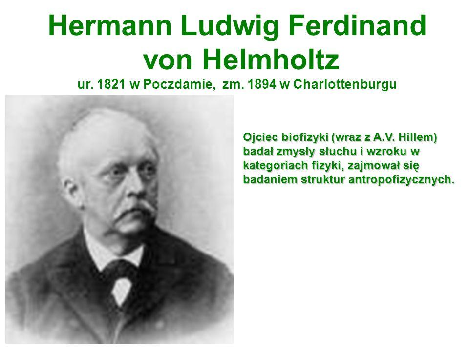 Hermann Ludwig Ferdinand von Helmholtz ur. 1821 w Poczdamie, zm