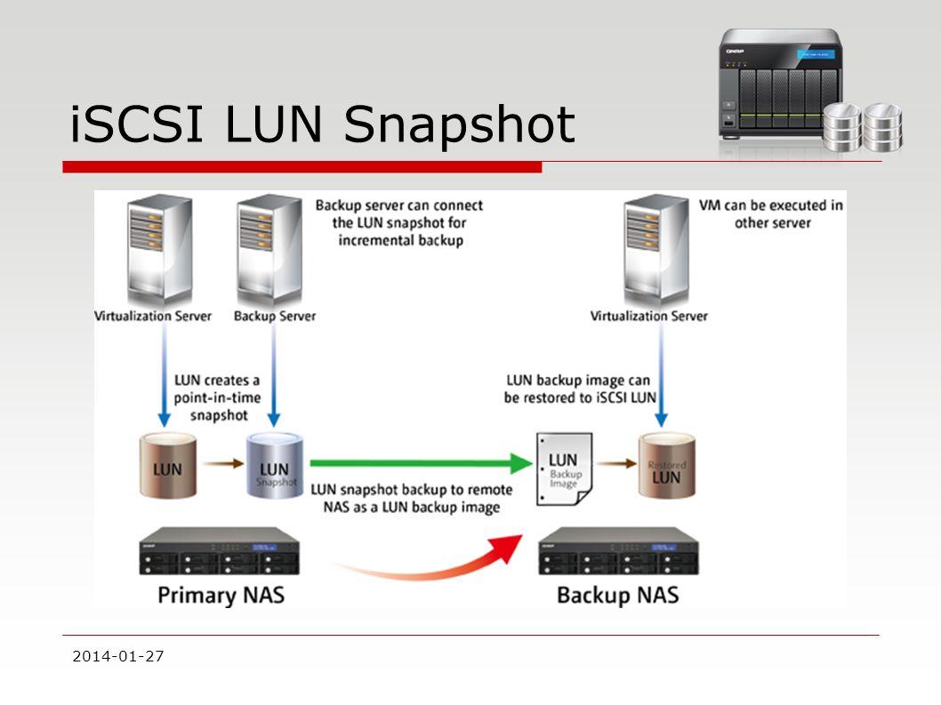 iSCSI LUN Snapshot 2017-03-28