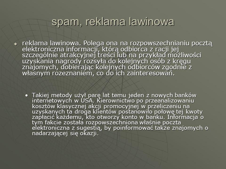 spam, reklama lawinowa