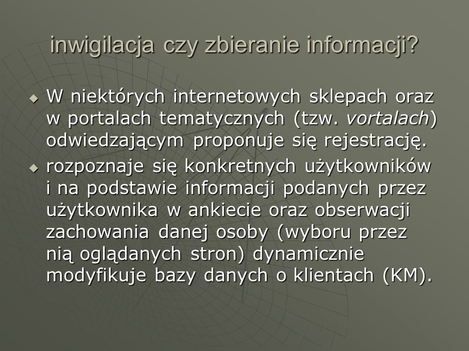 inwigilacja czy zbieranie informacji