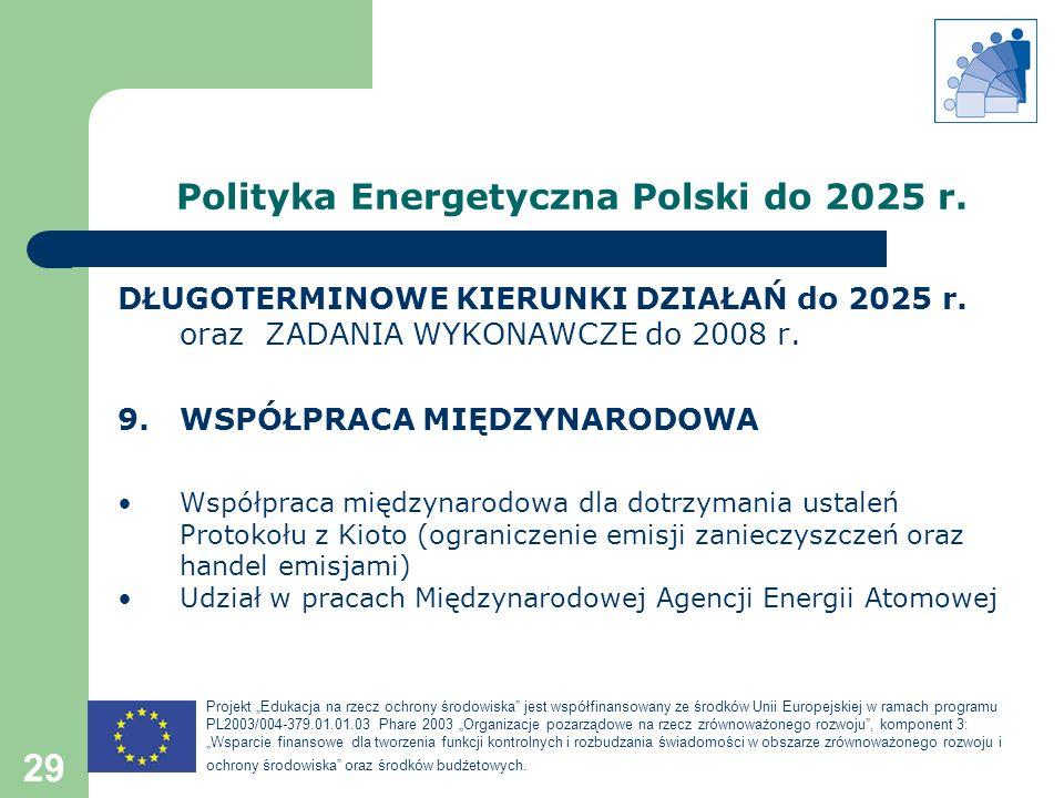 Polityka Energetyczna Polski do 2025 r.