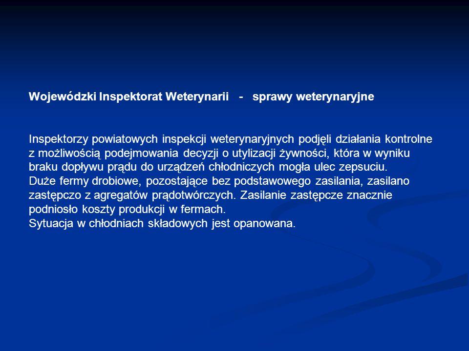 Wojewódzki Inspektorat Weterynarii - sprawy weterynaryjne