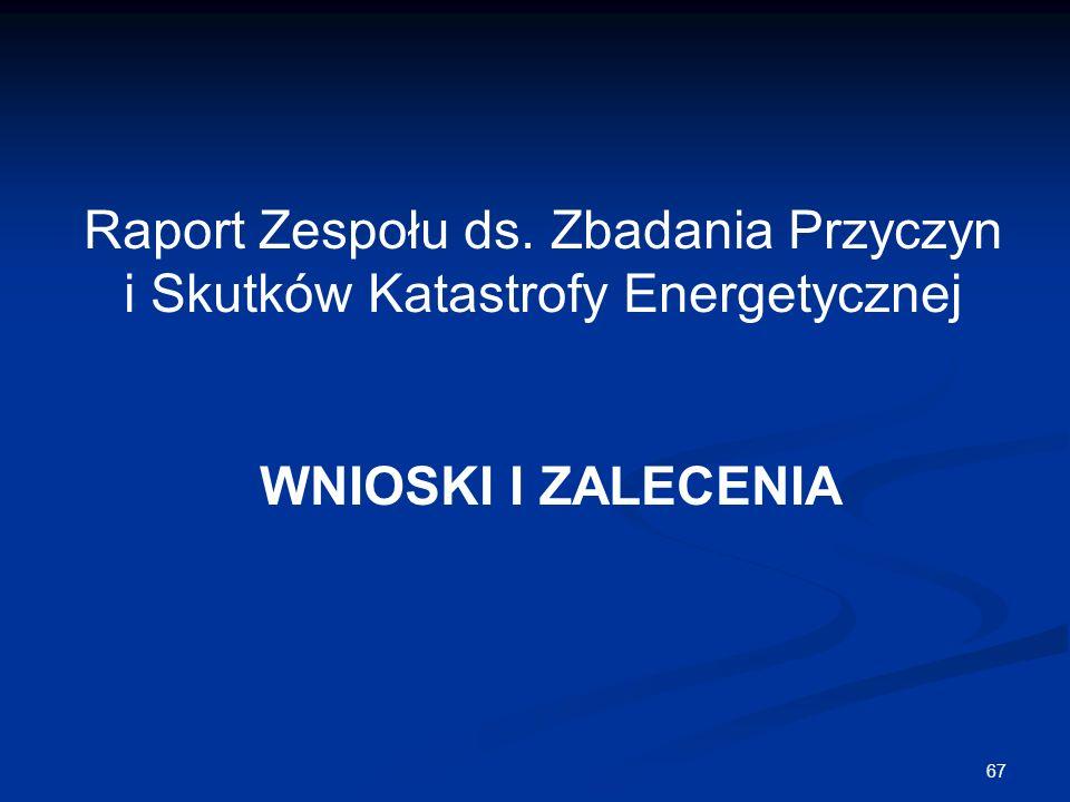 Raport Zespołu ds. Zbadania Przyczyn i Skutków Katastrofy Energetycznej