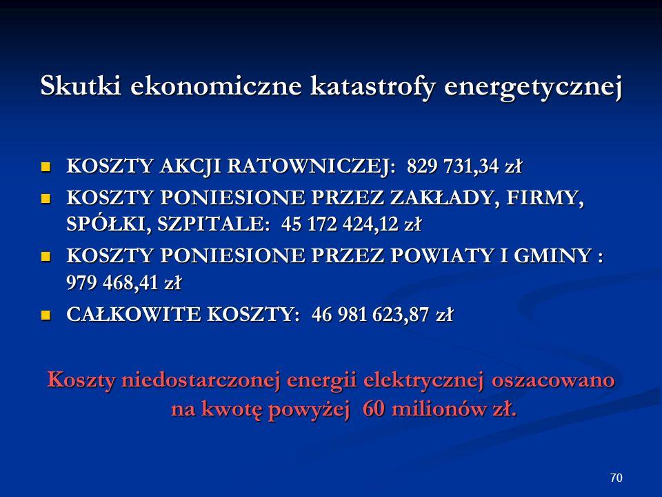 Skutki ekonomiczne katastrofy energetycznej