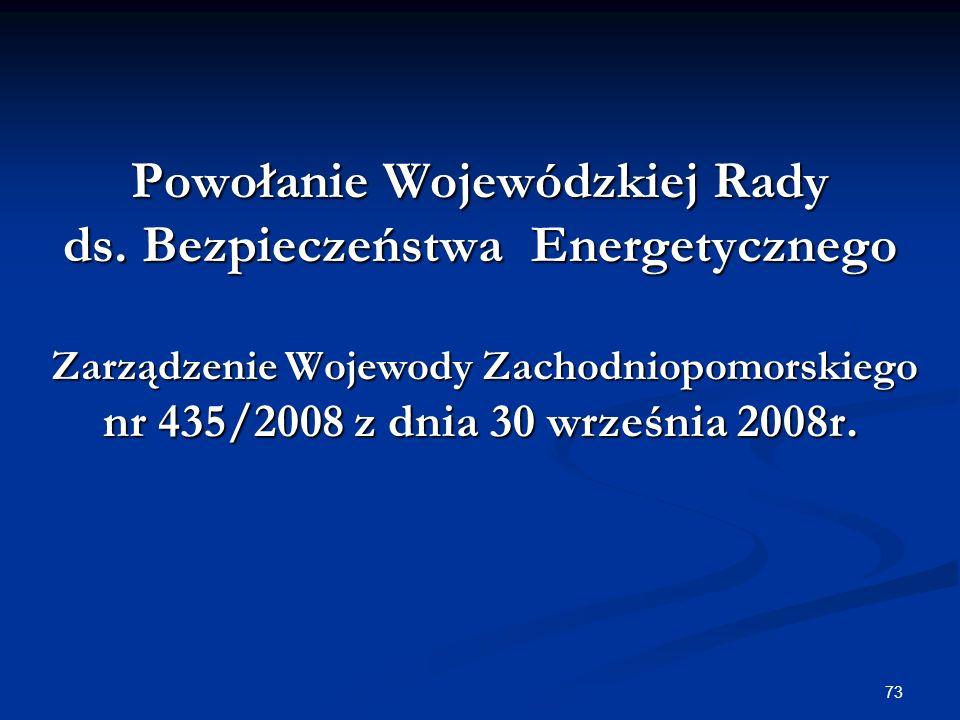 Powołanie Wojewódzkiej Rady ds. Bezpieczeństwa Energetycznego
