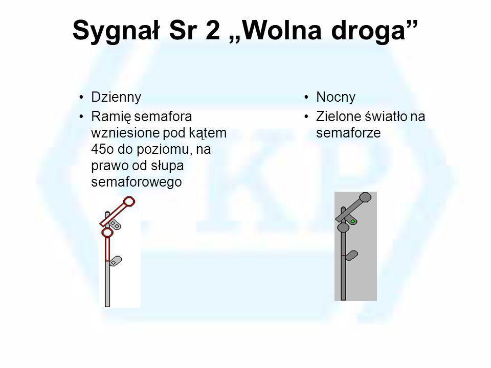"""Sygnał Sr 2 """"Wolna droga"""