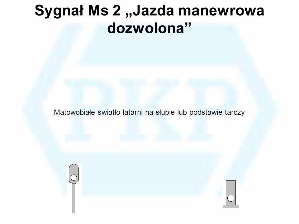 """Sygnał Ms 2 """"Jazda manewrowa dozwolona"""