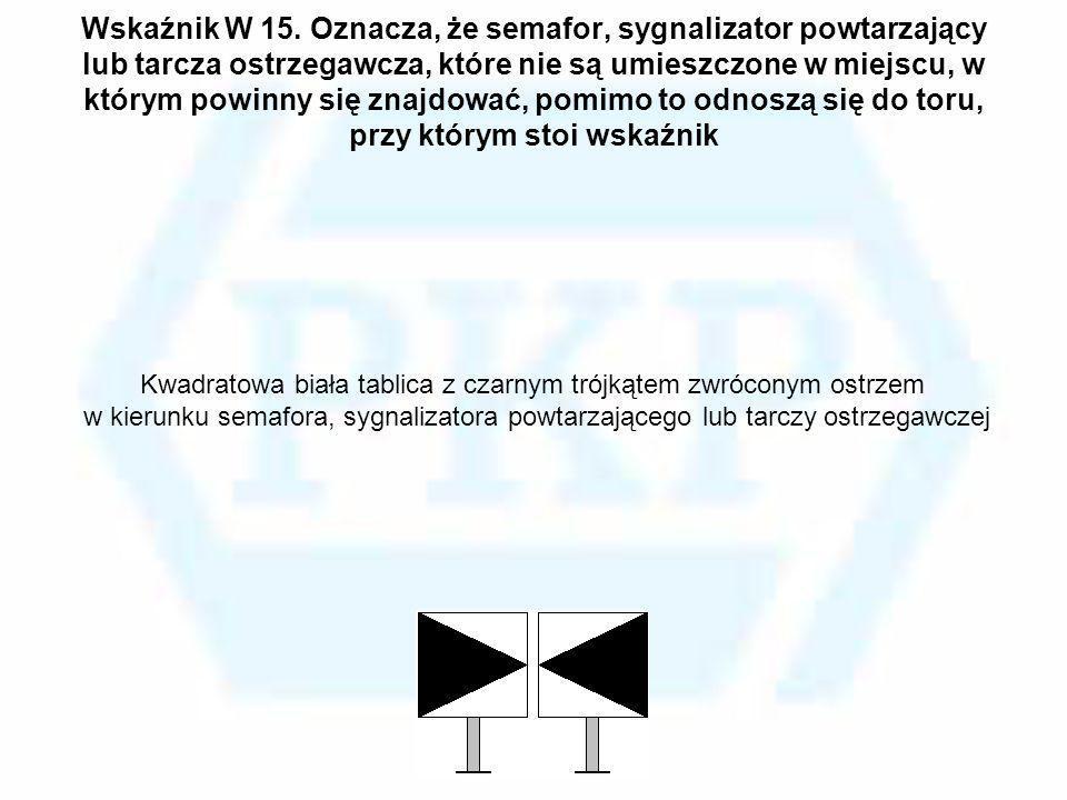 Kwadratowa biała tablica z czarnym trójkątem zwróconym ostrzem