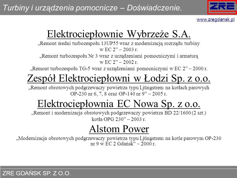 Turbiny i urządzenia pomocnicze – Doświadczenie.