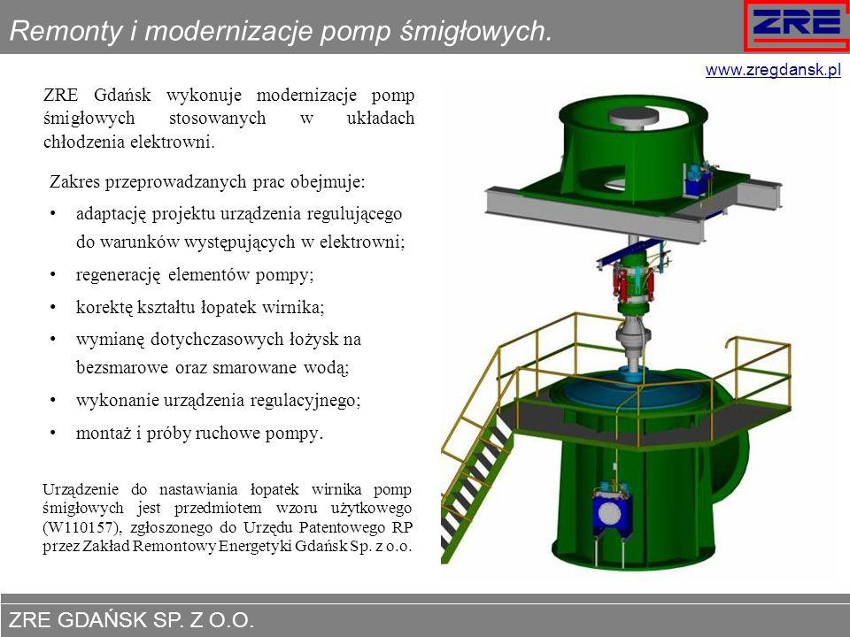 Remonty i modernizacje pomp śmigłowych.