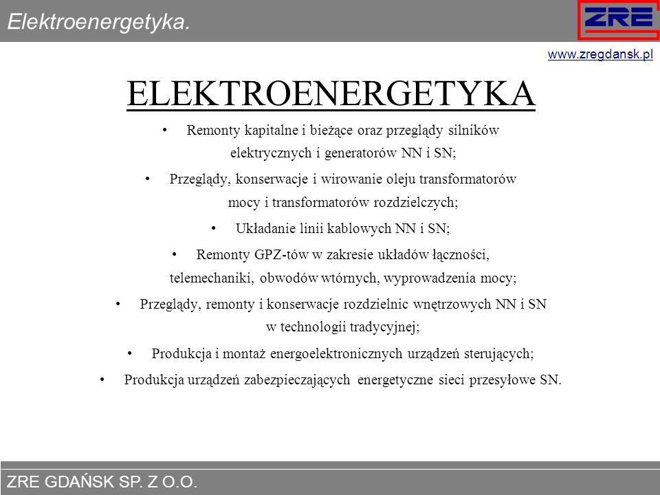 ELEKTROENERGETYKA Elektroenergetyka.