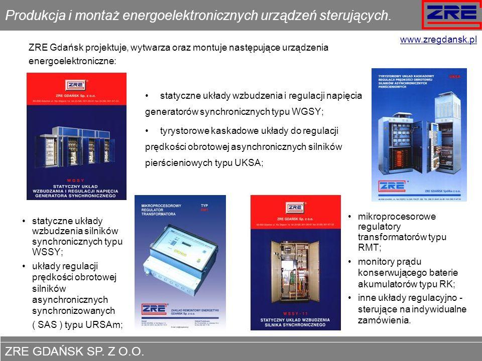 Produkcja i montaż energoelektronicznych urządzeń sterujących.