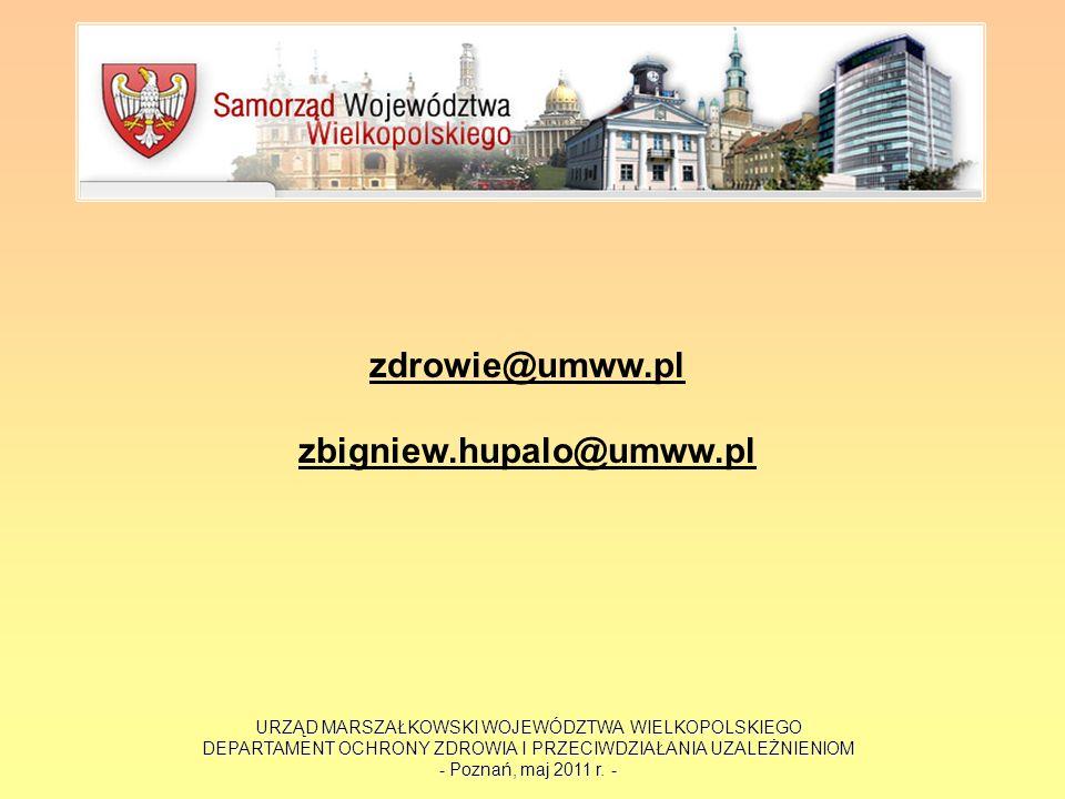 zdrowie@umww.pl zbigniew.hupalo@umww.pl