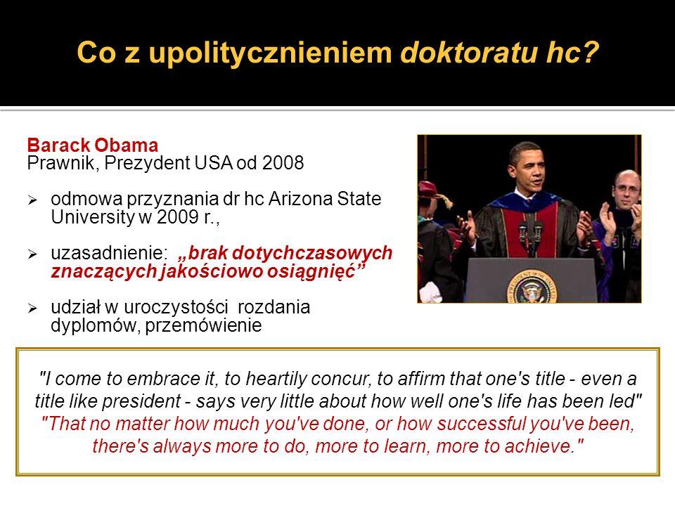 Co z upolitycznieniem doktoratu hc