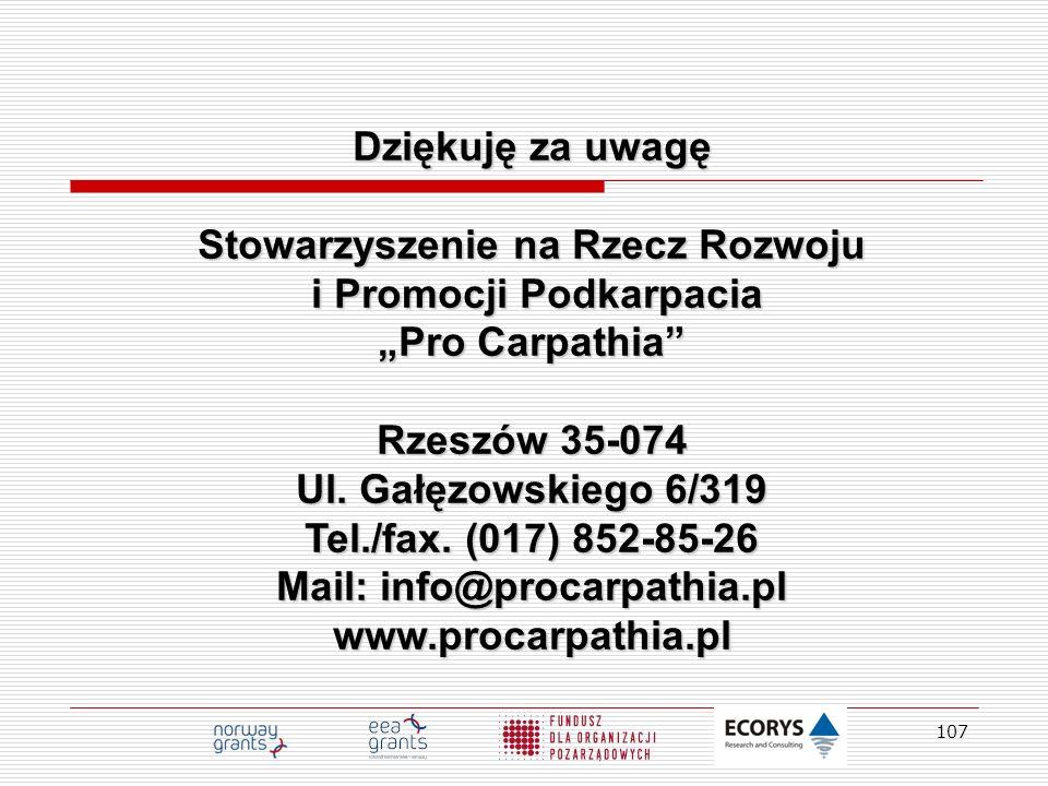 """Stowarzyszenie na Rzecz Rozwoju i Promocji Podkarpacia """"Pro Carpathia"""