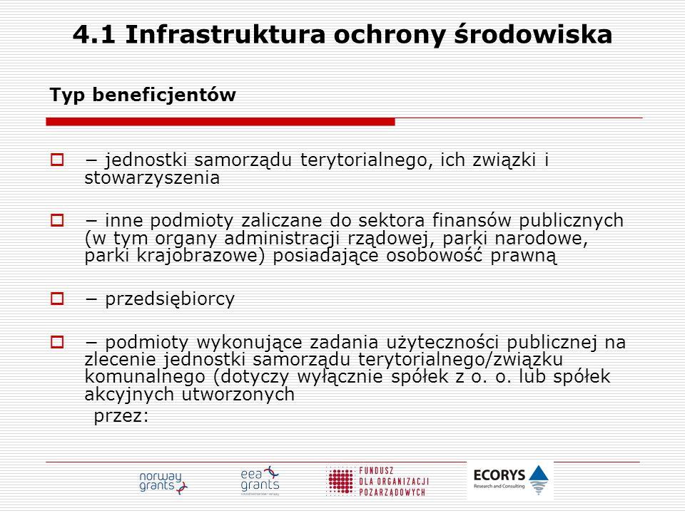 4.1 Infrastruktura ochrony środowiska