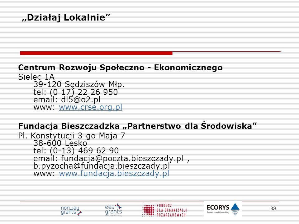 """""""Działaj Lokalnie Centrum Rozwoju Społeczno - Ekonomicznego"""
