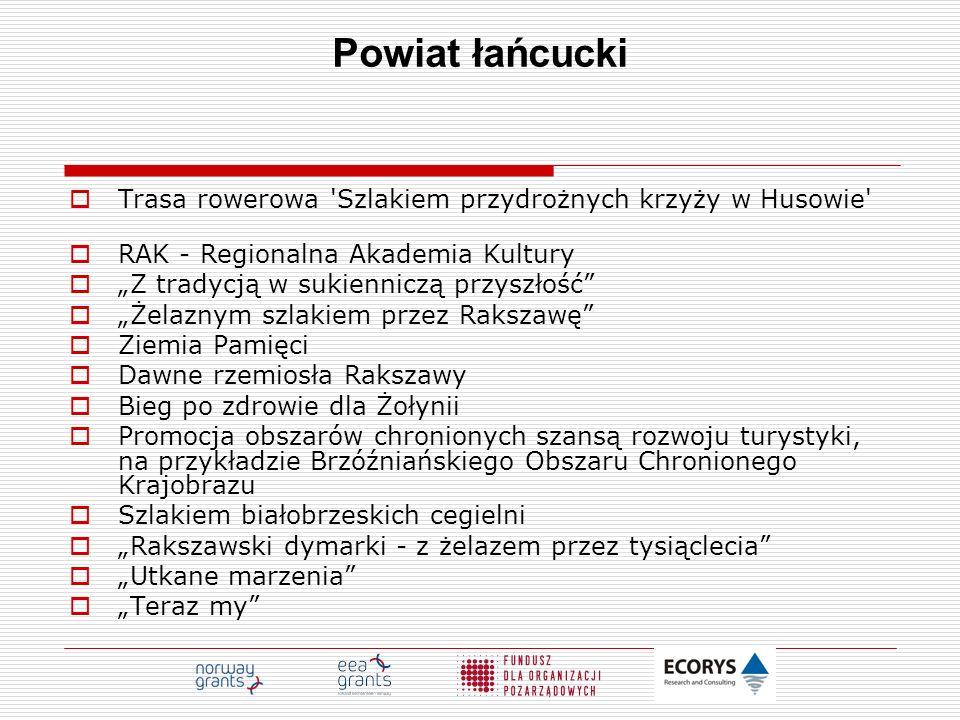 Powiat łańcucki Trasa rowerowa Szlakiem przydrożnych krzyży w Husowie RAK - Regionalna Akademia Kultury.