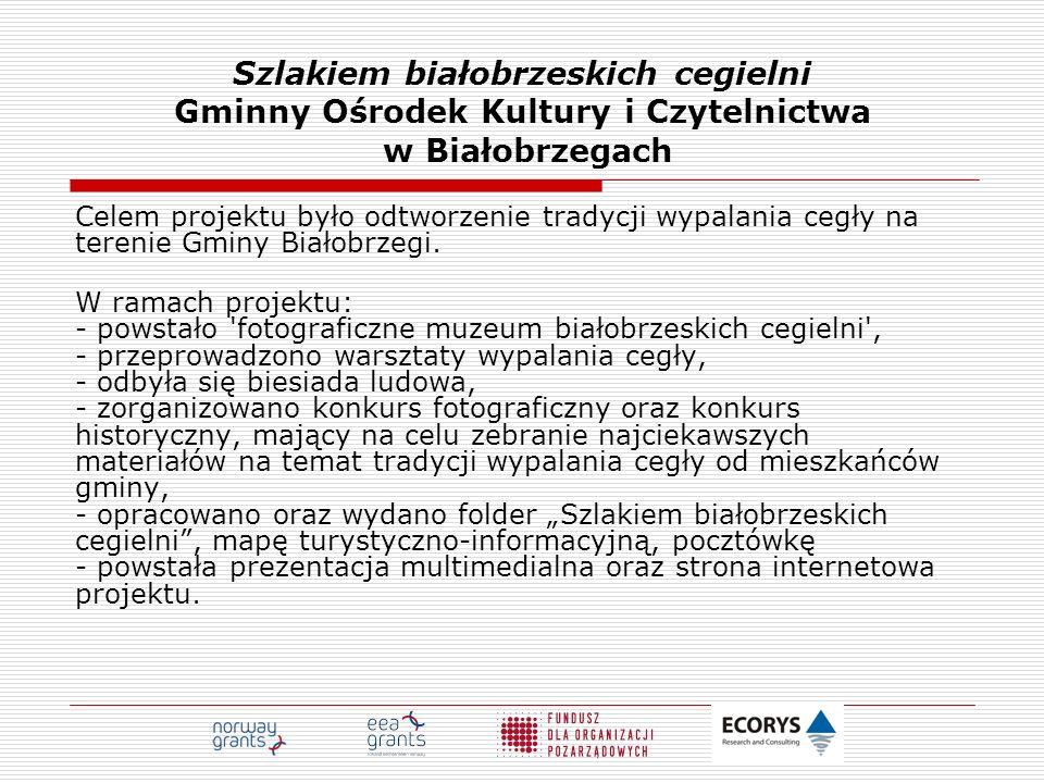 Szlakiem białobrzeskich cegielni Gminny Ośrodek Kultury i Czytelnictwa w Białobrzegach