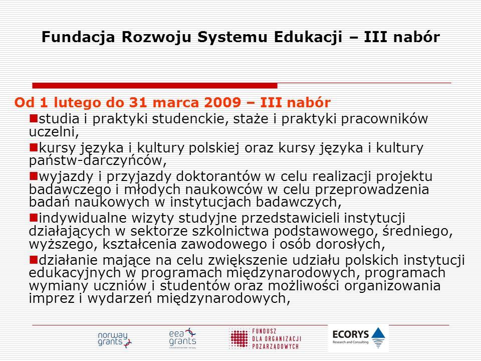 Fundacja Rozwoju Systemu Edukacji – III nabór