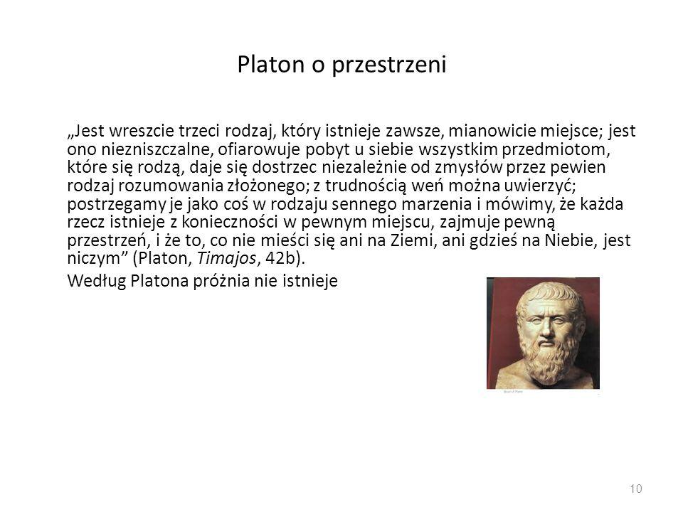 Platon o przestrzeni