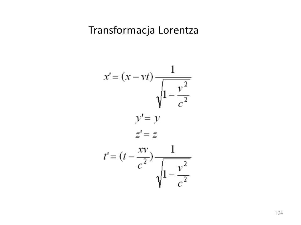 Transformacja Lorentza