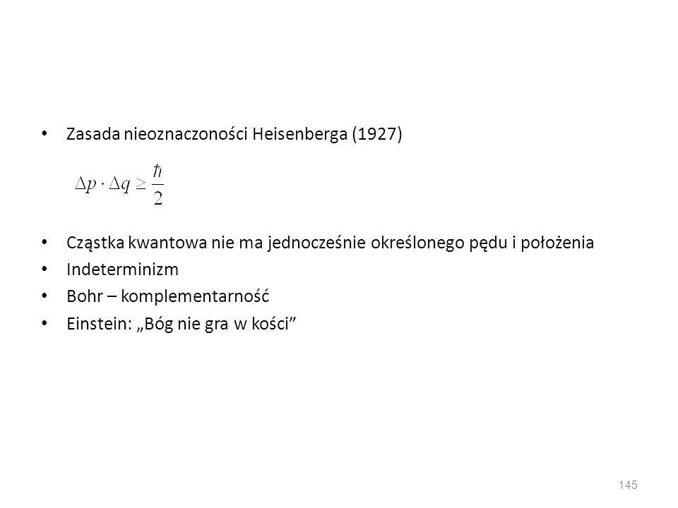 Zasada nieoznaczoności Heisenberga (1927)