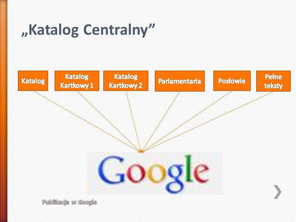 """""""Katalog Centralny Katalog Katalog Kartkowy 1 Katalog Kartkowy 2"""