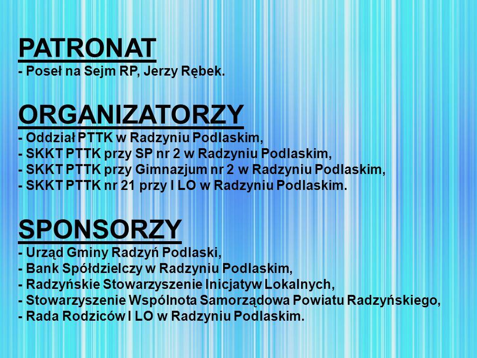 PATRONAT ORGANIZATORZY SPONSORZY - Poseł na Sejm RP, Jerzy Rębek.