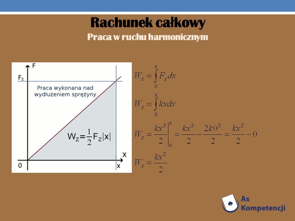 Rachunek całkowy Praca w ruchu harmonicznym
