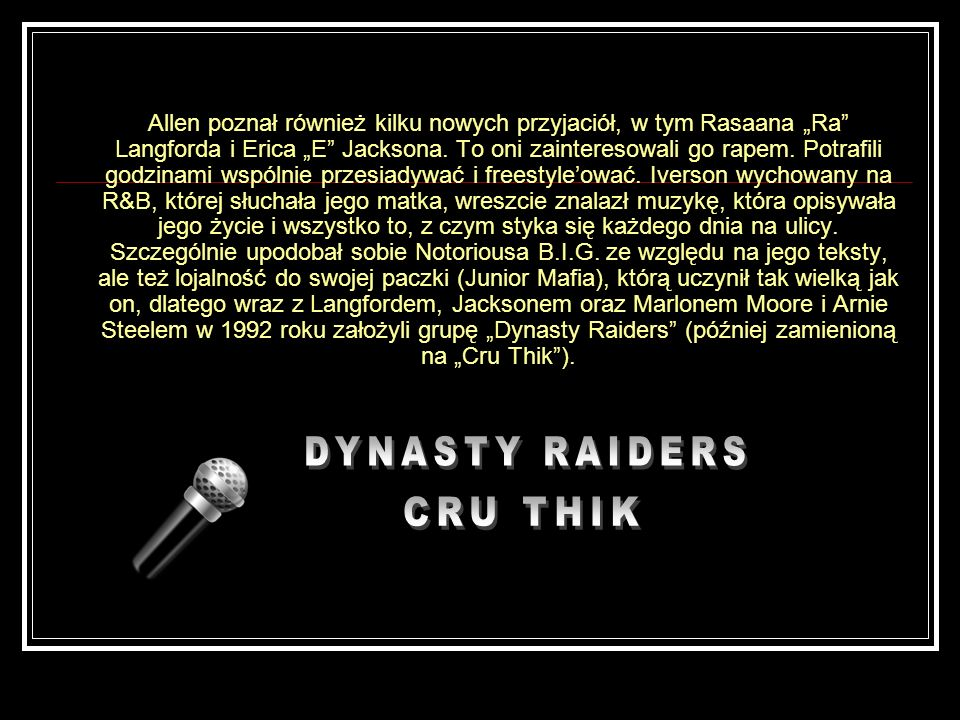 DYNASTY RAIDERS CRU THIK