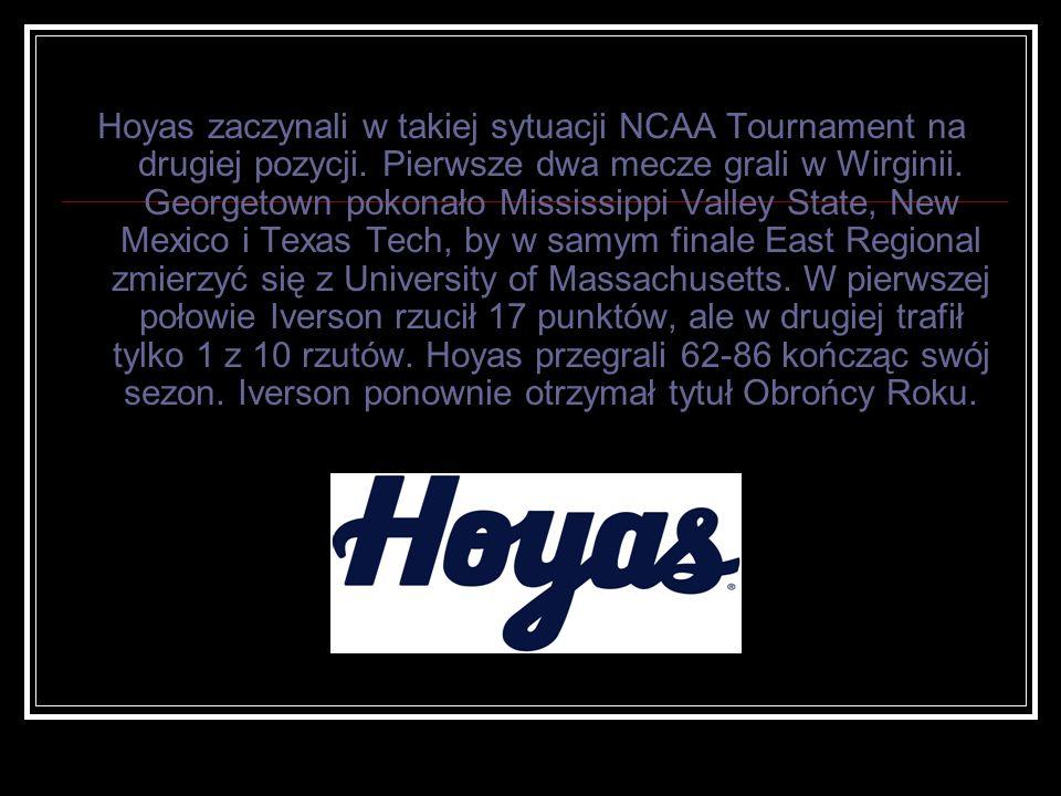Hoyas zaczynali w takiej sytuacji NCAA Tournament na drugiej pozycji