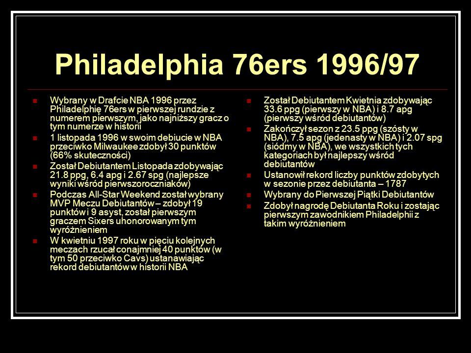 Philadelphia 76ers 1996/97