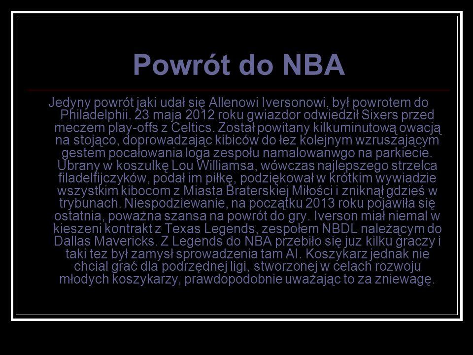 Powrót do NBA