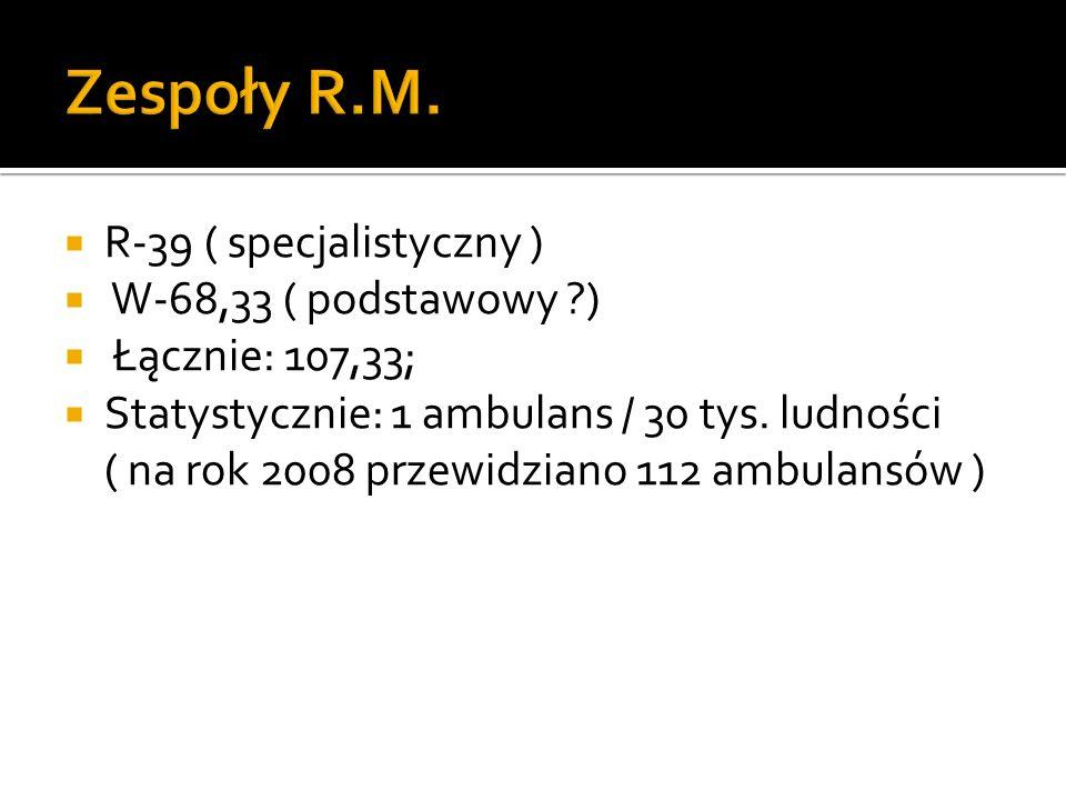 Zespoły R.M. R-39 ( specjalistyczny ) W-68,33 ( podstawowy )