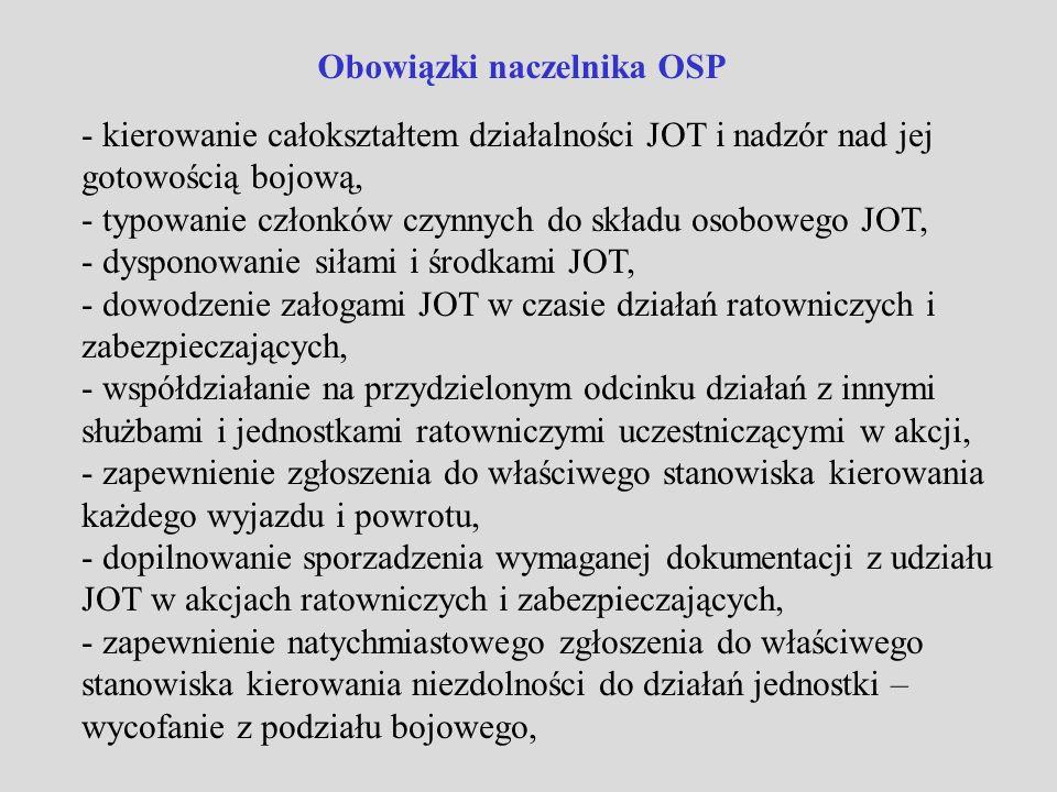 Obowiązki naczelnika OSP