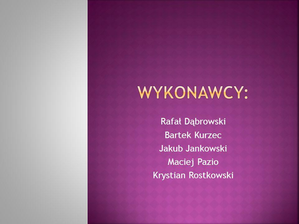 Wykonawcy: Rafał Dąbrowski Bartek Kurzec Jakub Jankowski Maciej Pazio